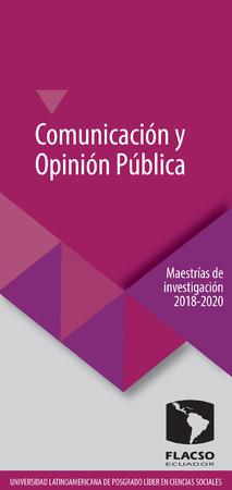Comunicación y Opinión Pública 2018-2020