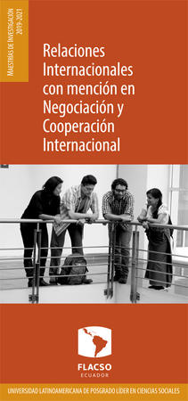 International Relations with a specialization in Negotiation and International Cooperation 2019-2021