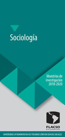 Sociología 2018-2020