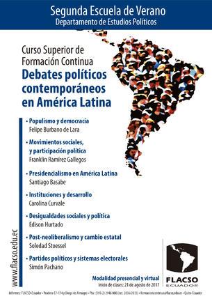 II Escuela de Verano - Debates políticos contemporáneos en América Latina