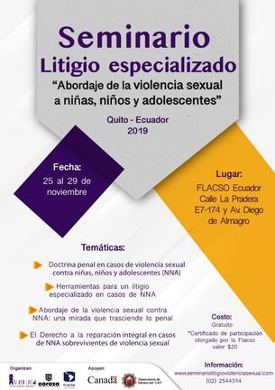 Seminario Internacional Litigio Especializado 'Abordaje de la violencia sexual a niñas, niños y adolescentes'