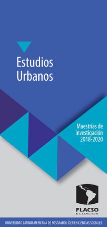 Estudios Urbanos 2018-2020