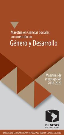 Género y desarrollo 2018-2020