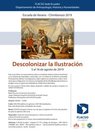 Escuela de Verano Chimborazo 2019: Descolonizar la Ilustración