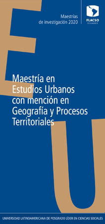 Urban Studies with specialization in Geography and territorial processes 2020