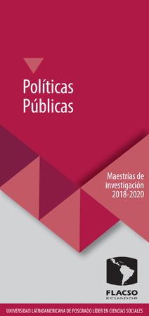 Políticas Públicas 2018-2020