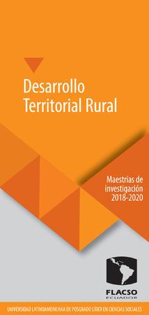 Desarrollo Territorial Rural 2018-2020