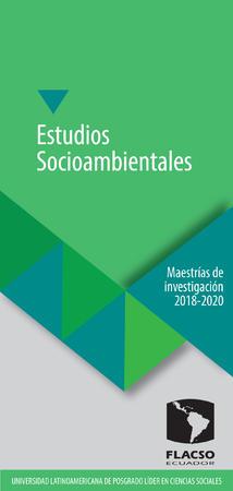 Estudios Socioambientales 2018-2020