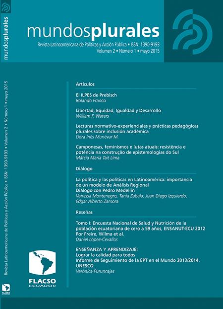Mundos plurales Volumen 2, No. 1. Revista Latinoamericana de Políticas y Acción Pública