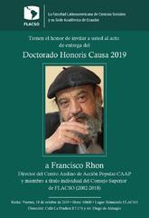 Entrega Doctorado Honoris Causa 2019 a Francisco Rhon