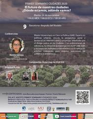 Primer Seminario Ciudades 2020   Barcelona: después del Modelo