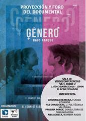 Proyección y foro del documental 'Género bajo ataque'