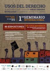 Seminario internacional  Usos del derecho y acciones colectivas en áreas urbanas segregadas