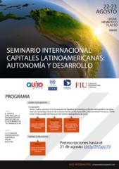 Seminario internacional  Capitales latinoamericanas: autonomía y desarrollo