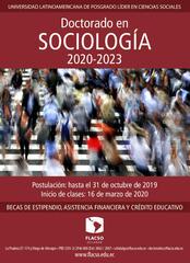 Reunión informativa Doctorado en Sociología 2020-2023