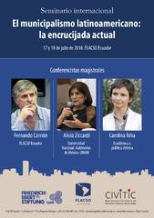 Seminario internacional El municipalismo latinoamericano: la encrucijada actual