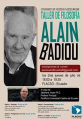 Taller de Filosofía Alain Badiou