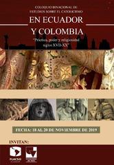 Coloquio binacional de estudios sobre el catolicismo en Ecuador y Colombia