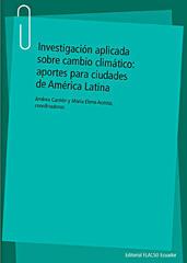 Lanzamiento del libro Investigación aplicada sobre cambio climático: aportes para ciudades de A.L.