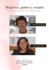 Mujeres, poder y Estado. Homenaje a las trayectorias académicas de Ana María Goetschel y Mercedes Prieto