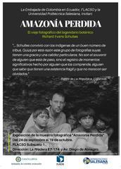 Muestra fotográfica Amazonía perdida Abierta hasta el 19 de octubre